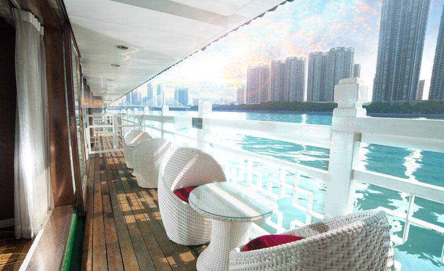 珠江夜游(蓝海豚游船)图片